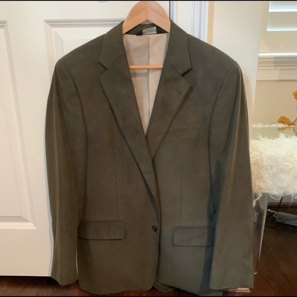 Jos. A. Bank Other - Jos. A. Bank hunter green/olive suede blazer; R39